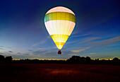 Hot air balloon at night. Hot air balloon at night