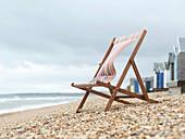 Deckchair on Beach. Deckchair on Beach