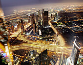 Aerial time_lapse view of Dubai. Aerial time_lapse view of Dubai