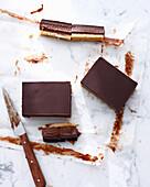 Triple chocolate caramel bars. TripleChocCaramel