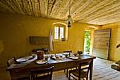 Dining room, Ballenberg museum, Hofstetten, Switzerland