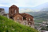Citadel, St  Trinity church 14 century, Berat, Albania