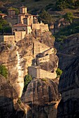 The Holy Monastery of Varlaam: The Metéora complex of Eastern Orthodox monasteries, UNESCO World Heritage in the Plain of Thessaly, Greece