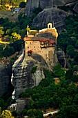 Greek Orthodox Monastery of St Nicholas Anapafsas, Meteora Mountains, Greece