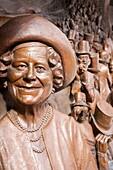 Queen mother bronze plaque, London, UK
