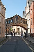 Hertford Bridge, popularly known as the Bridge of Sighs, New College Lane, Oxford, England, UK