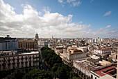 Havana Capitolio And Central Havana View From Above, Centro Habana, Havana, Cuba