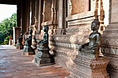 Bronze Buddha statues, Haw Pha Kaew, now a museum of art and antiquities, Vientiane, Laos