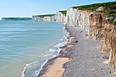 Beach at Birling Gap on the Seven Sisters South Dawns Way, Sussex, England, UK