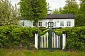 House entrance, Sieseby, Baltic Sea, Schleswig-Holstein, Germany, Europe