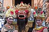 Indonesia-Bali Island-Batubulan Temple-Barong Dance-Actors