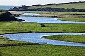 U.K, Sussex, South Downs National Park,river Cuckmere meanders
