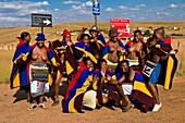 Africa, South Africa, Mpumalanga Province, Limpopo Province, Nebo district, Ndebele girls