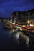 Italy, Venice, plunging View(Sight) of the Grand Canal, Seen from the Bridge(Deck) of Rialto