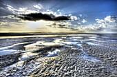 France, Normandie, Manche, Havre de la Vanlee, low tide