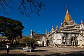 Myanmar (Burma), Mandalay State, Bagan (Pagan), Old Bagan, Ananda Temple (Pahto Ananda, beginning 12th), one of the nicest, bigest, best-preserved and most revered temples of Bagan