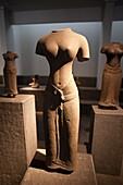 Vietnam,Vietnam,Ho Chi Minh City,History Museum,Sandstone Sculpture of Female Torso 13th Century