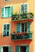 France, Alpes-Maritime (06), Nice, narrow streets and colorful facades of the old town