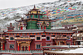 Dzogchen Monastery a religious institution, founded in 1625 and rebuilt after an earthquake in 1842. Fire destroyed the temple in 1936. It was reconstructed with aid from the USA., Sichuan Tibet