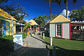 Houses at Redcliff Quay in the sunlight, Saint John's, Antigua, West Indies, Caribbean, Central America, America