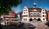 City Hall Square, Neues Rathaus, Freiburg, Baden-Württemberg, Germany, Europe