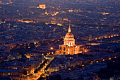 France, Europe, Paris, Hotels des Invalides, dome, city, overlook, town, overview
