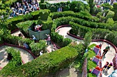 Paris, France, Theme Parks, People Visiting Disneyland Paris, Outdoor Maze Garden