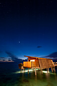stars in the sky over water villa at Park Hyatt Maldives Hadahaa, Gaafu Alifu Atoll, North Huvadhoo Atoll, Maldives