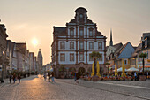 Maximilians Street in the evening lighting, Speyer, Rhineland-Palatinate, Germany, Europe