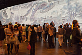 People at an exhibition of Chinese history, Expo 2010, Shanghai, China, Asia
