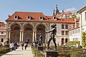 Wallenstein Gardens with bronze statues, Prague, Czech Republic