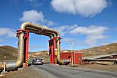 Geothermal power station at lake Myvatn, North Iceland, Europe