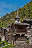Timber houses, Niederwald, Goms, Upper Goms, Valais, Switzerland