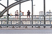 Hacker Bridge, railway station, Munich, Upper Bavaria,  Bavaria, Germany