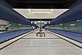 U-Bahn Station Gern, Munich, Upper Bavaria,  Bavaria, Germany