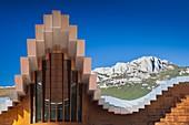 Spain, Basque Country Region, La Rioja Area, Alava Province, Laguardia, Bodegas Ysios winery, designed by architect Santiago Calatrava