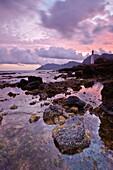 Litoral de Colonia de Sant Pere Bahia de Alcudia Arta Llevant Peninsula Mallorca Balearic Islands Spain