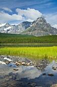 Mount Chephren from Waterfowl Lakes, Banff National Park Alberta Canada