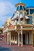 Main Street U S A , Magic Kingdom, Walt Disney World, Orlando, Florida USA