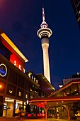 The Sky City entertainment complex with the Sky Tower tallest free-standing structure in the Southern Hemisphere above, Central Business District, Auckland, New Zealand