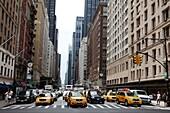 Traffic along Avenue of the Americas (Sixth Avenue)