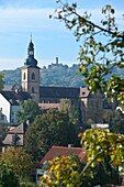 St  Michael-View from Terrace to Bamberg-Jacobschurch-Altenburg