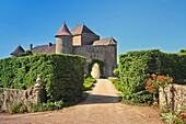 The historic castle of Berzé-le-Châtel, Burgundy, France, Europe