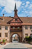 Alsace , architecture , Bas-Rhin , color image , day , Europe , France , gate , heritage , historic , history , outdoor , Rosheim , town , vertical , village , V04-1585436 , AGEFOTOSTOCK