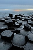 United Kingdom, Northern Ireland, Antrim coast, Giant´s Causeway  Legend has it that the Irish giant Fionn mac Cumhaill Finn McCool built the causeway to walk to Scotland to fight his Scottish counterpart Benandonner