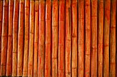 Detail of bamboo wood used in building Approximately 300 Burmese refugees in Thailand are members of the indigenous group known as the Longnecks The largest of the three villages where the Longnecks live is called Nai Soi, located near Mae Hong Son City L