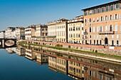 Ponte alla Carraia and Lungarno Corsini, Arno River, Firenze, Unesco World Heritage site, Tuscany, Italy