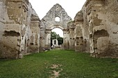 The ruins of deserted medieval Franciscan monastery dedicated to St  Catherine of Alexandria in Male Karpaty, Slovakia