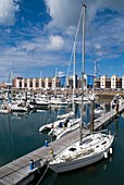 Albert Harbour ST HELIER JERSEY Luxury yacht in St Helier Marina and waterfront flats