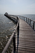 Stage of a hotel and resort at the coast of Kampot province, Cambodia, Asia